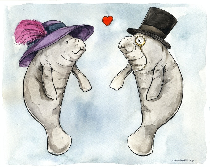 You can custom your Manatee Love... just tell me what you want.. or make it a surprise!