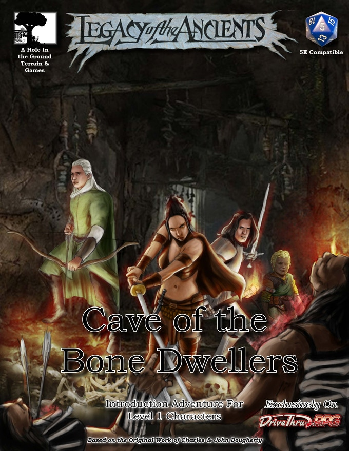 Intro Adventure Cover - Cave of the Bone Dwellers
