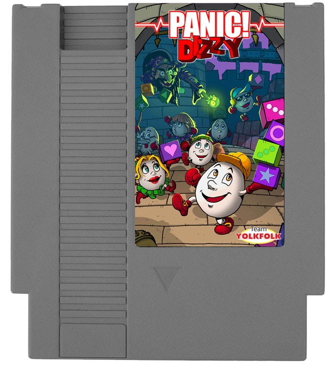 NES cart with label