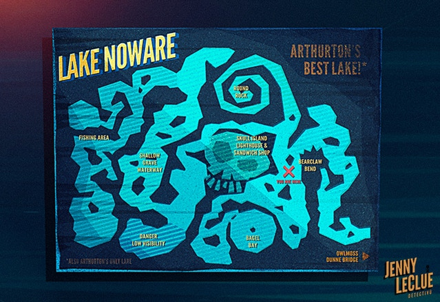 A map of Lake Noware