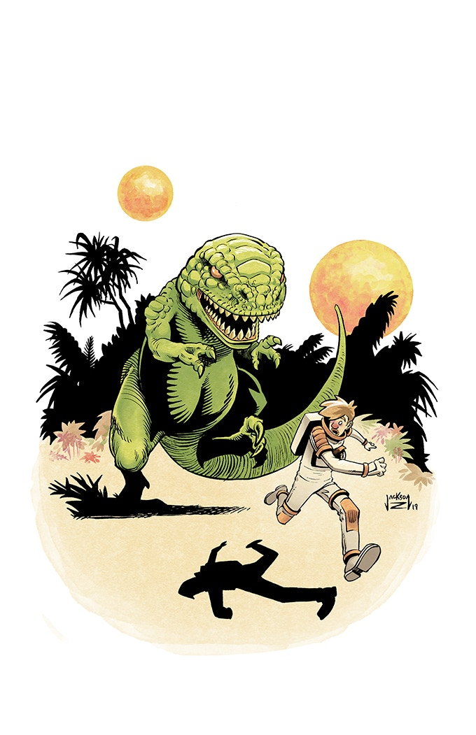Exclusive Kickstarter Print (There are no dinosaurs in the comic. This is a tribute to some of my favorite comic artists from the 1960s.)