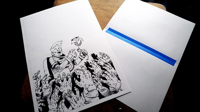 Original Art - front and back