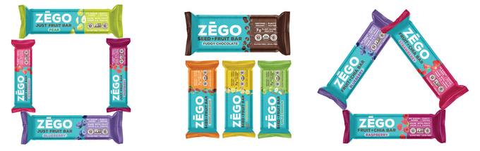 ZEGO has three types of mouth-watering bars, Just Fruit, Seed+Fruit and Fruit+Chia.