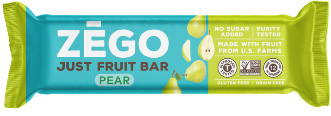 ZEGO's Just Fruit Bars are made from 100% U.S. grown fruit. Nothing else!
