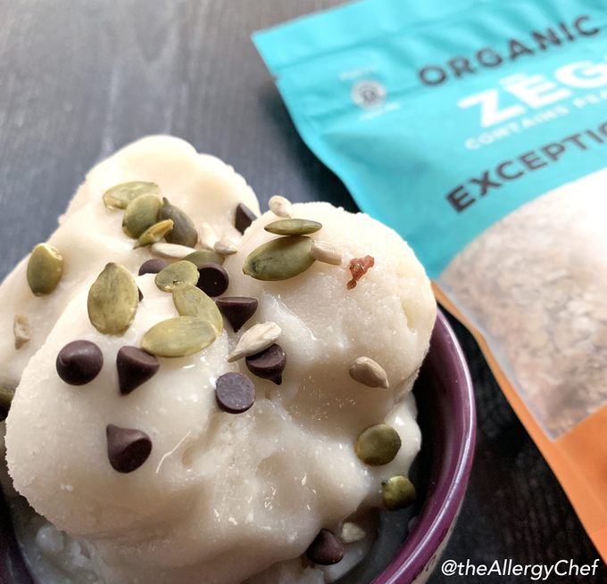 Why stick with oatmeal? ZEGO's raw oats make delicious oat milk, oat milk ice cream (here topped with our chocolate chip Mix-Ins) and cookies!