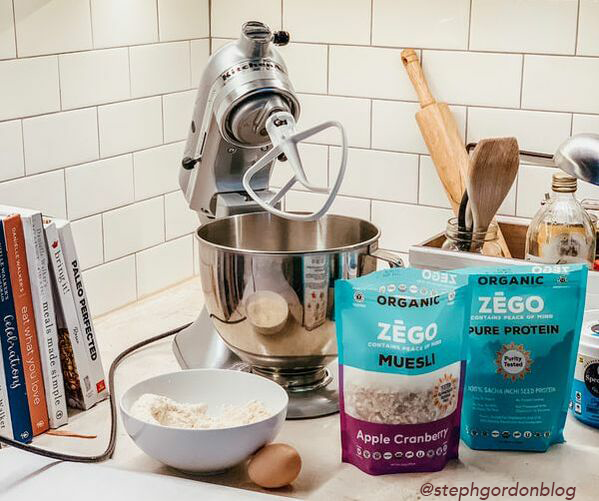 Baking nutrient-dense, delicious food is made easy & delicious with ZEGO. Just plug in your mixer & go!