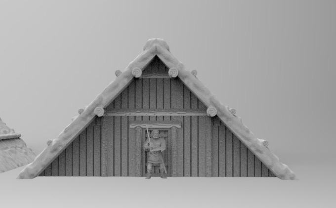 Anglo Saxon house (figure not included, sample only)