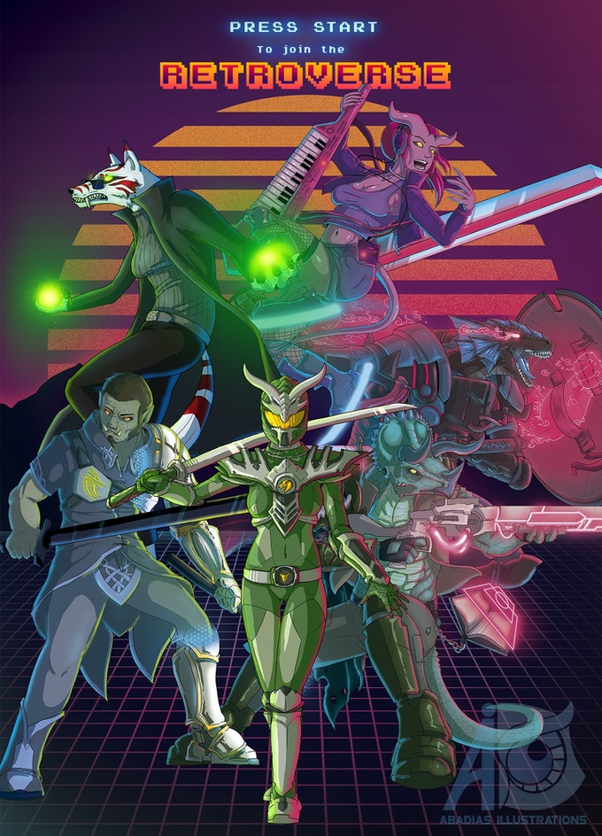 Clockwise from the top: Synthweaver, De-Fragger, Glitch Hunter, Henshin, Holo-Knight, Apogee.