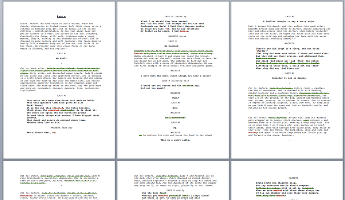 First draft of screenplay