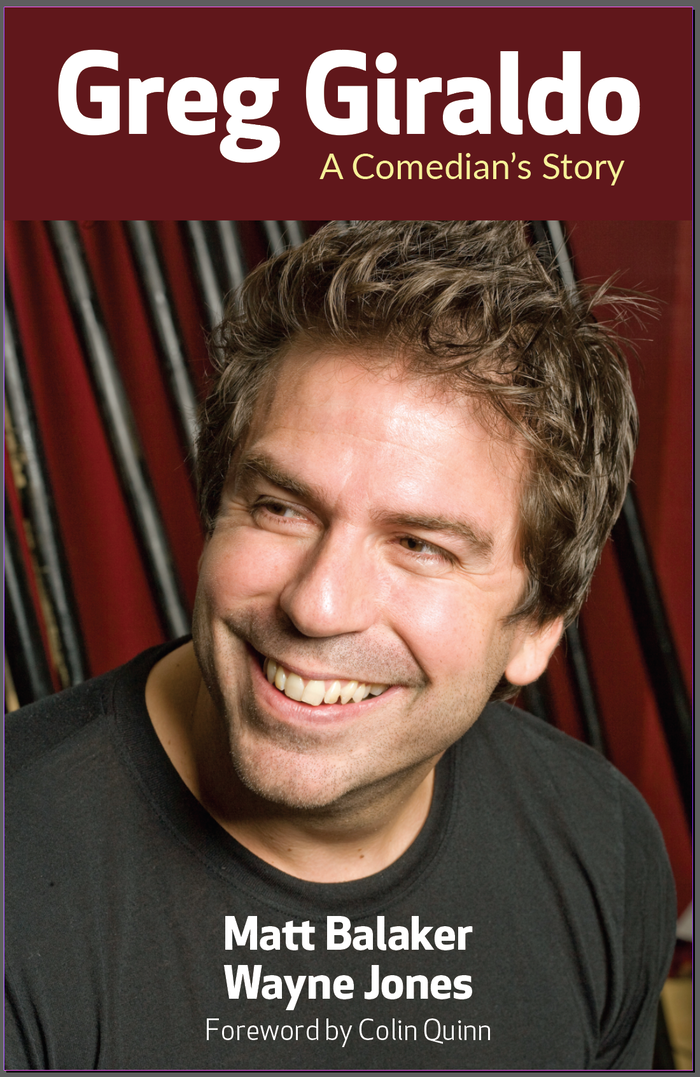 One of this century's best comedians deserves a book. Learn Greg Giraldo's story from those who knew him best. (photo by Dan Dion)