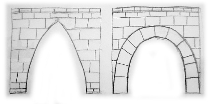 Arc walls sketches