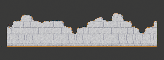3 solid walls made into horizontal ruins