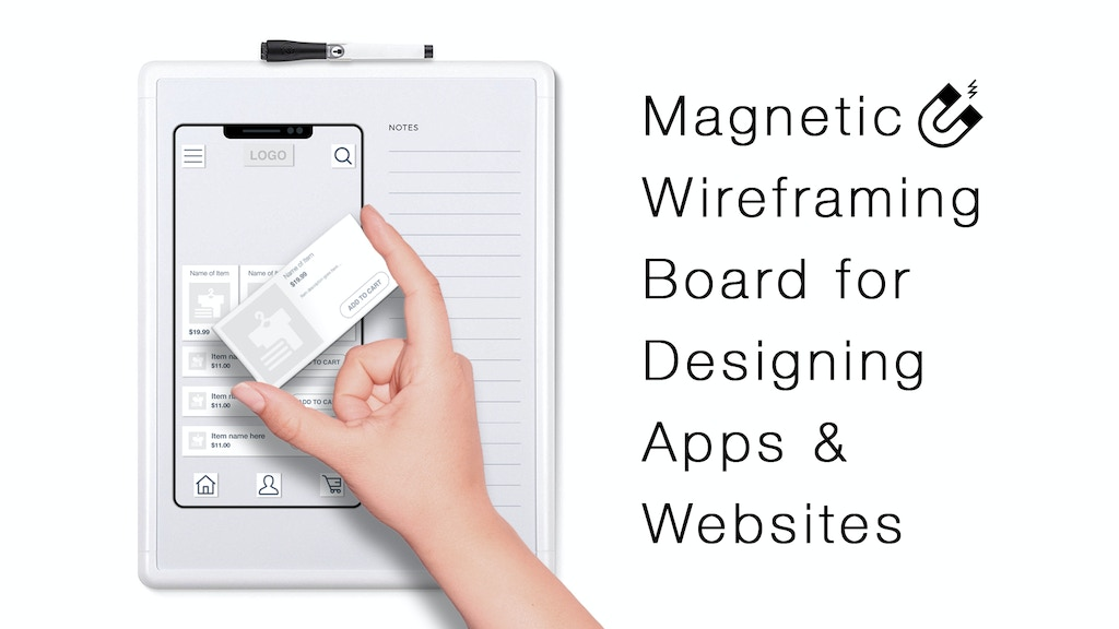 Wibo: An app & website design board with magnetic tiles