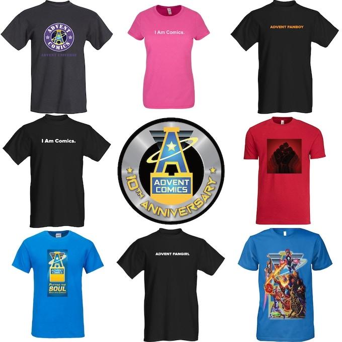 Additional Advent Comics T-shirts