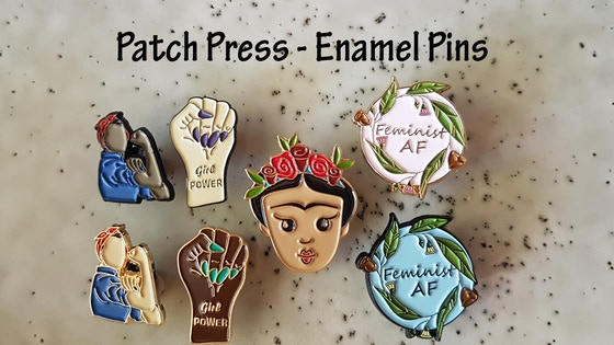Track Wearable Art: Feminist Enamel Pin Set's Kickstarter
