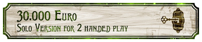 """Solo version for players who play with 2 investigators (=""""2 handed"""") available!!"""