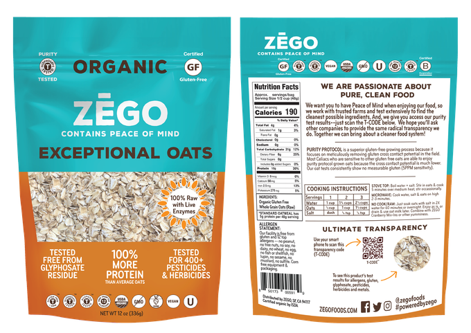 ZEGO: Pioneering New Food Purity Transparency & New Products by