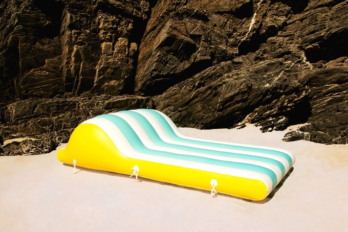 Henry inflatable is designed for reading a book or sitting on