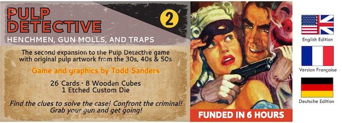 Pulp Detective Expansion 2: Henchmen, Gun Molls and Traps