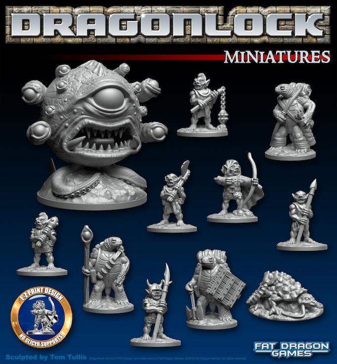 DRAGONLOCK™ 3D Printable Miniatures by Tom Tullis — Kickstarter