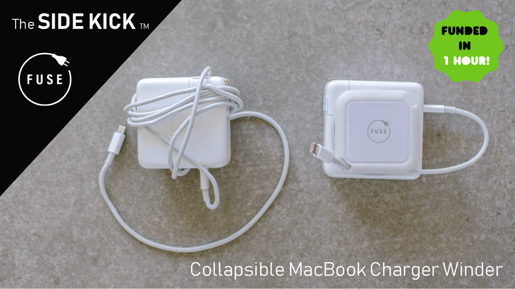 The Side Kick by Fuse: Collapsible Laptop Charger Winder