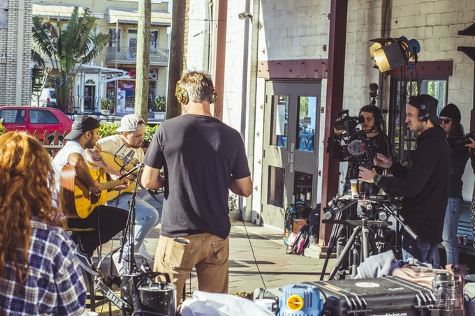Filming Acoustic Session w/ Rebelution in St. Petersburg, FL - 2018