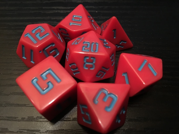 All Retroverse dice are crafted by Luck Gnomes.