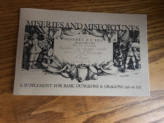 The Original 2015 Miseries & Misfortunes zine