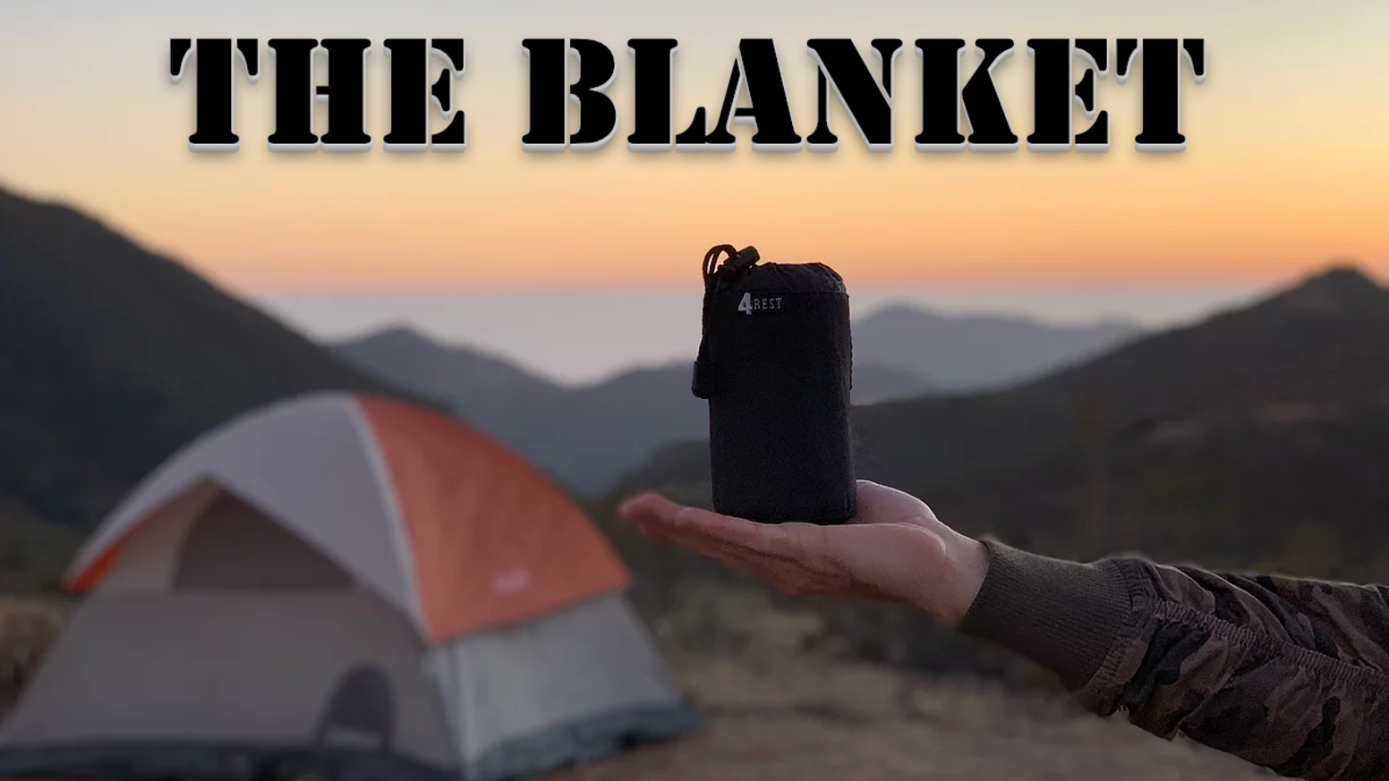 World's first wearable super lightweight packable travel blanket with sleeves and 2-in-1 warm / cooling effect.