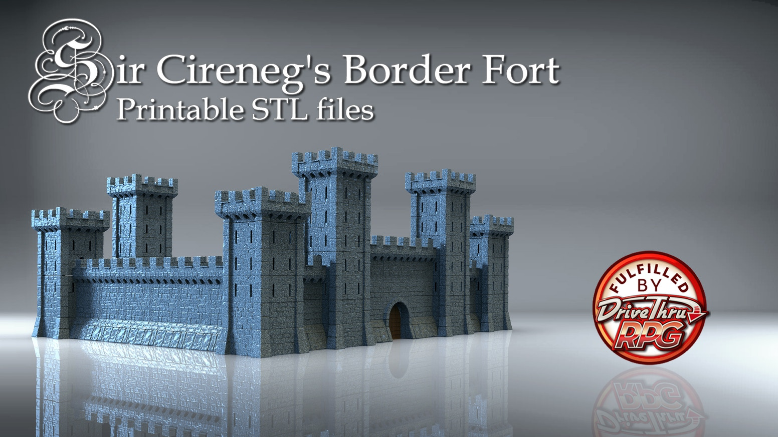 3d printable STL files for your 3d printer. These files will make you a modular castle. More will be added to this as time goes on.