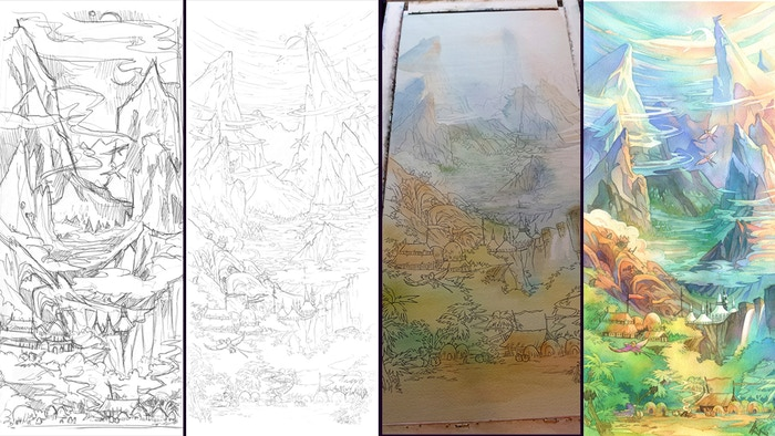From Sketch to Completion
