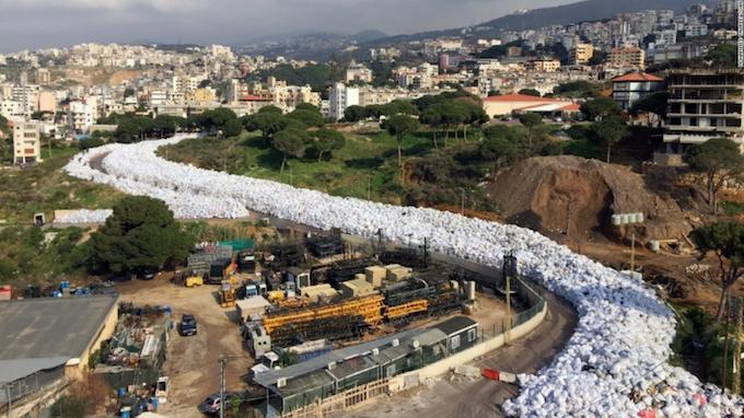 Lebanon Waste Crisis Peek in 2015 as seen on CNN