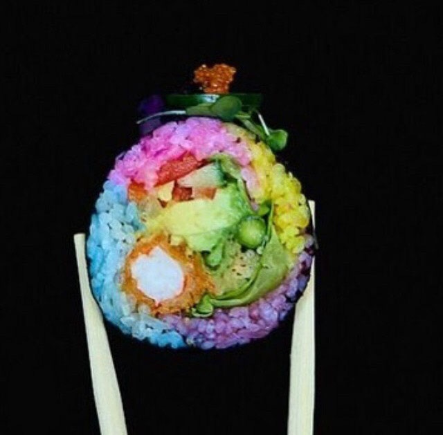 Our unicorn sushi
