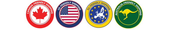 Customs-friendly shipping means no surprise charges or get a refund for your fees!