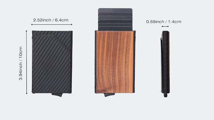 Urban X Wood wallet size