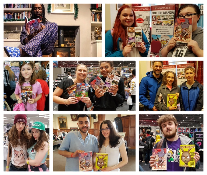Some of the great people we've met at comic conventions in the past year!