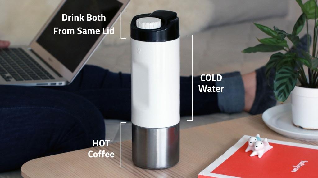 H2Joe - Two-In-One Coffee & Water Bottle