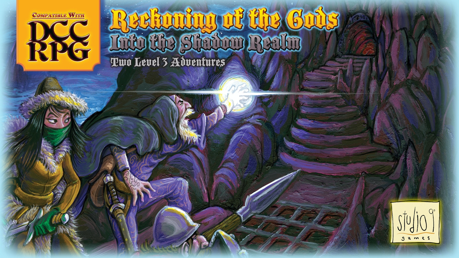 Trespass into a parallel realm to heist the hoard of an ancient evil. A booklet of two level 3 DCC RPG adventures (adapts to any RPG).