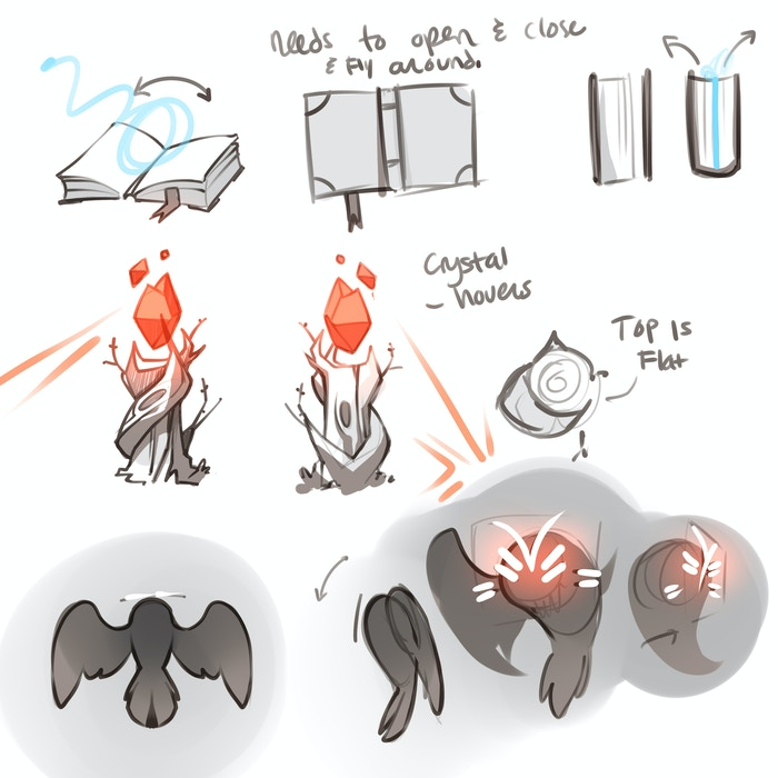 """My I present concepts for """"Book Bindings"""" """"Sentrees"""" and the """"Meowl"""""""