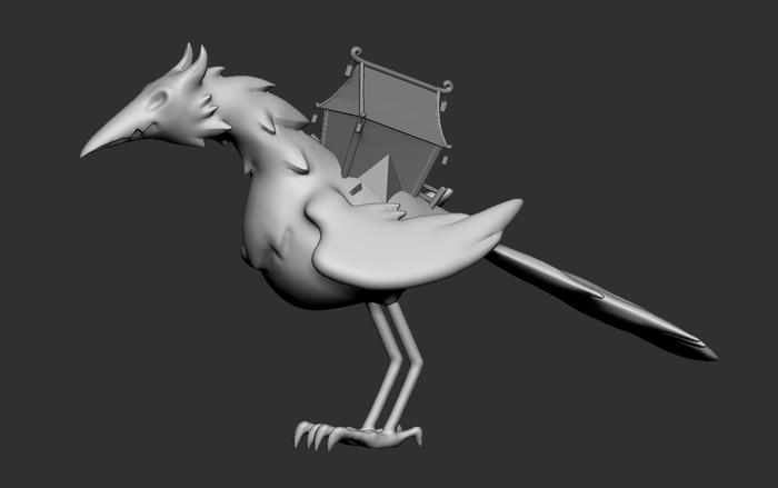 """The Village Bird Boss. The writing team had an idea for a monster inspired by the """"Baba Yaga"""""""