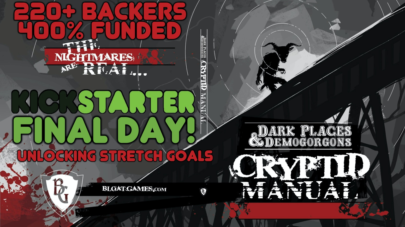 Dark Places & Demogorgons: The Cryptid Manual, Tabletop RPG