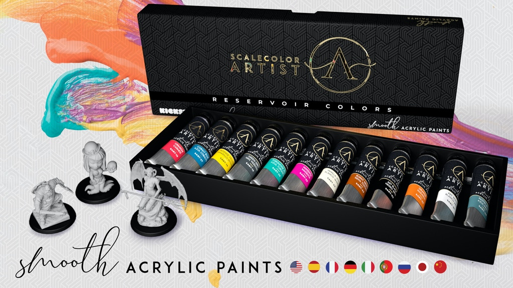 SCALECOLOR ARTIST Smooth Acrylic Paints