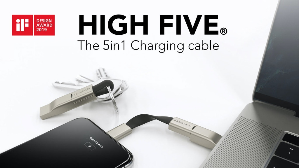 High Five® - The Most Compact 5in1 Charging Cable Project-Video-Thumbnail