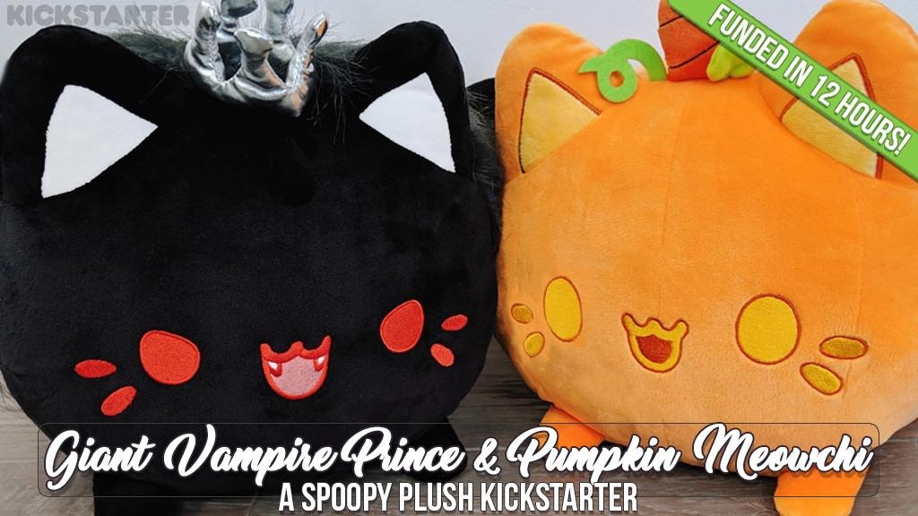 Giant Vampire Prince & Pumpkin Meowchi Plush