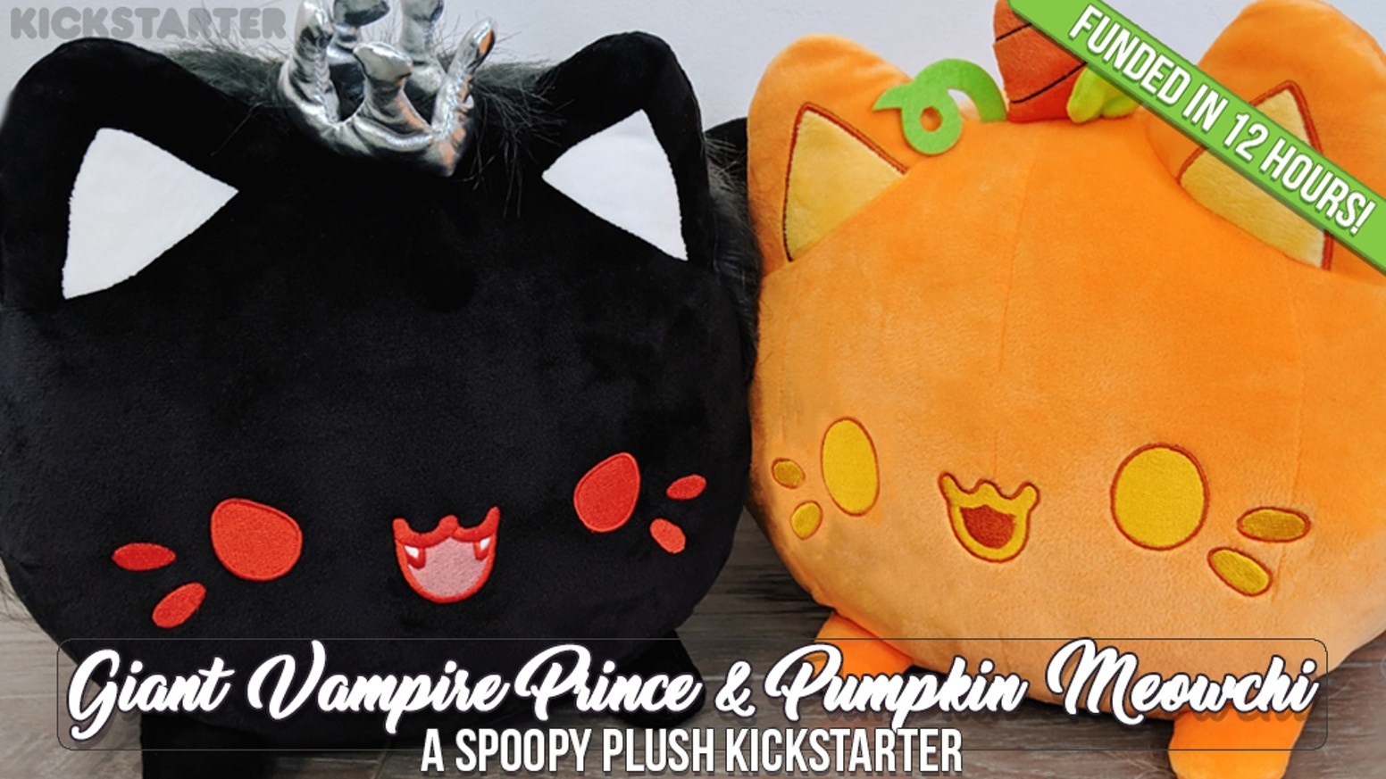 Part of the 'Giant Meowchi Series 2 Plush'! Bring home one ( or both ) spoopy kittens today!