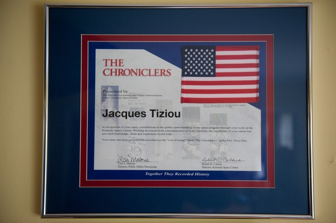 Jacques' award from the director of the Kennedy Space Center