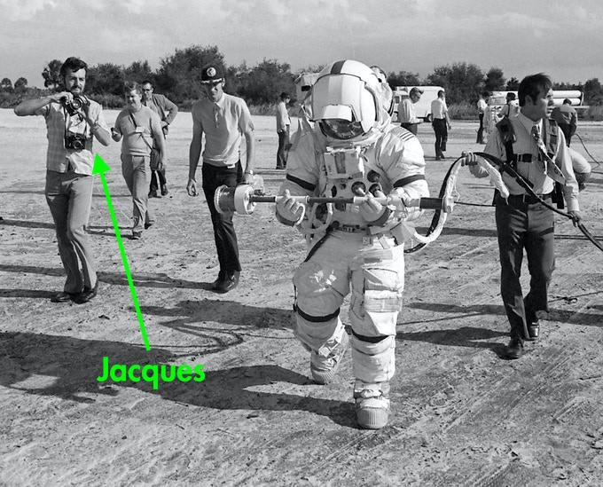 Jacques had front row seats to one of the most exciting periods of human history, as humankind began it's reach for the stars...