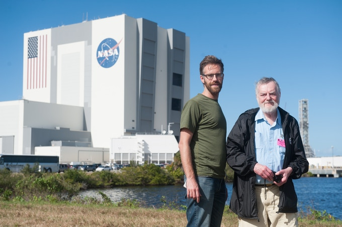 At the Kennedy Space Center for the Orion Test Launch in 2014, a few years before Jacques' life came to a close.
