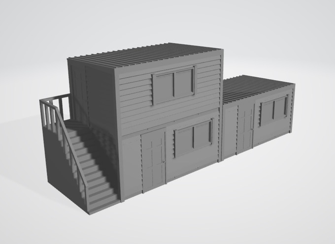 4 parts, modular, the construction office