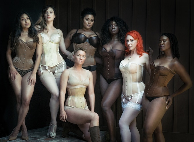 © Joel Aron. Our Naturals Collection of nude toned corsets. Pledge $500 or more for an editorial portrait session with Joel Aron, styled by Dark Garden!